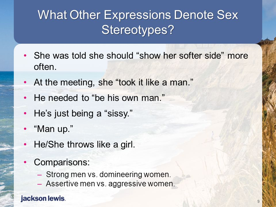 What Other Expressions Denote Sex Stereotypes