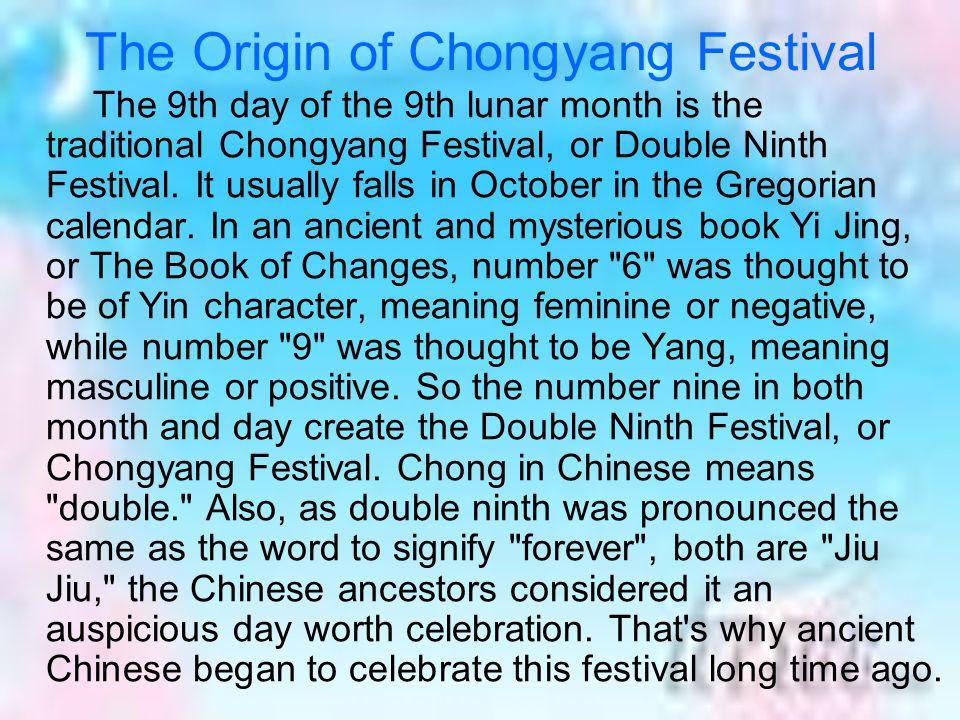 The Origin of Chongyang Festival