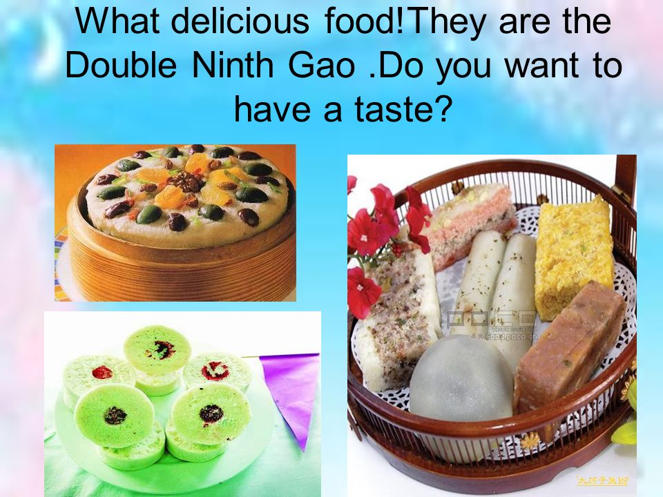 What delicious food. They are the Double Ninth Gao