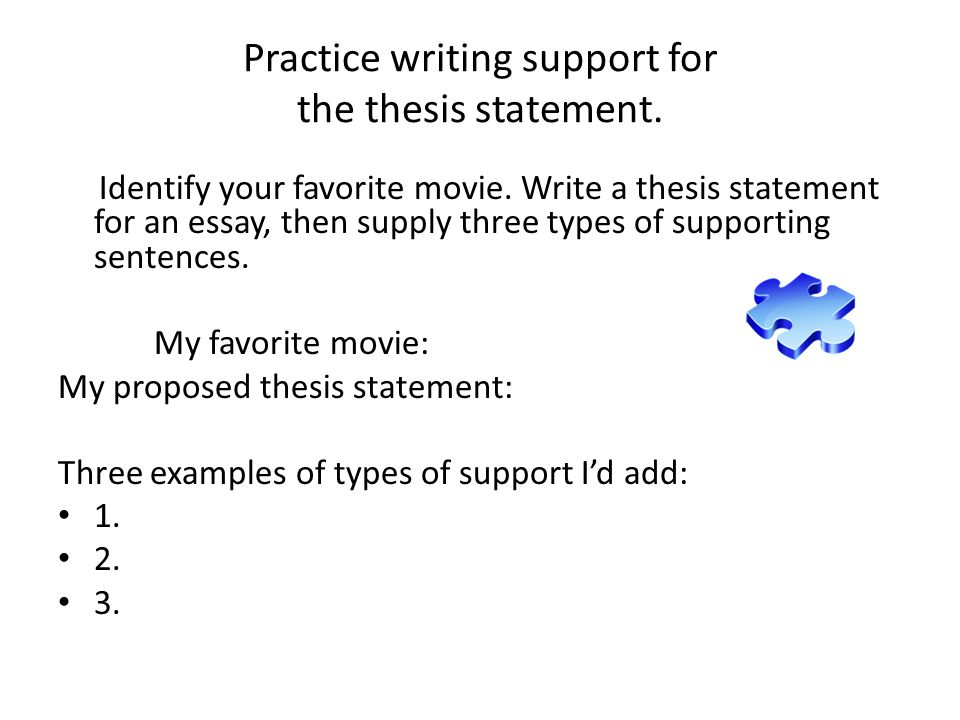 movie thesis statements Use this thesis statement generator to build your argumentative or compare and contrast thesis statement in less than 5 minutes.