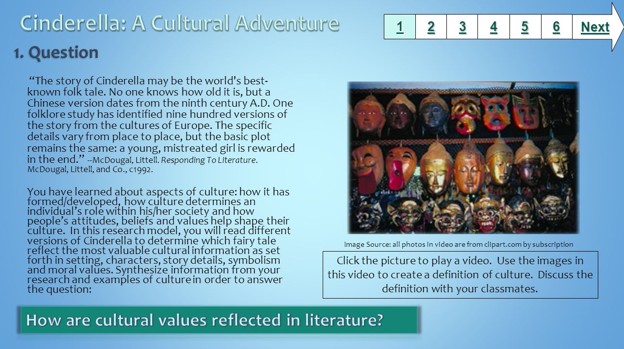 Cinderella: A Cultural Adventure