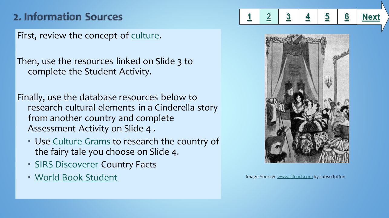 2. Information Sources First, review the concept of culture.