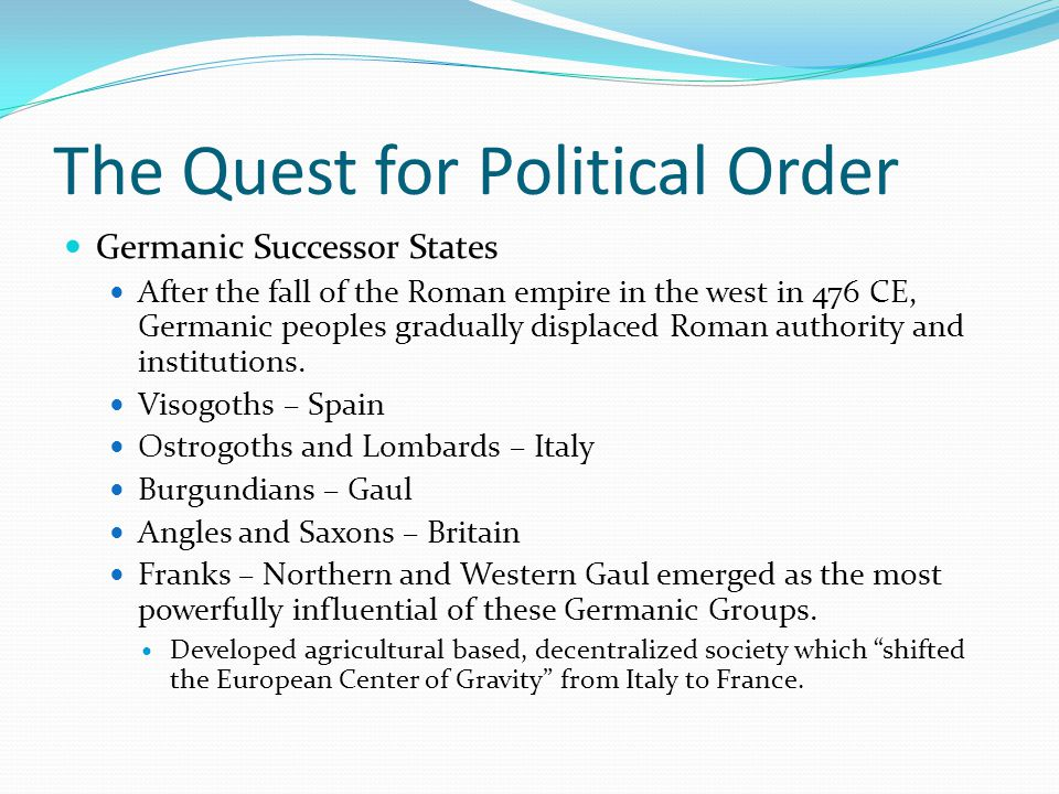 The Quest for Political Order