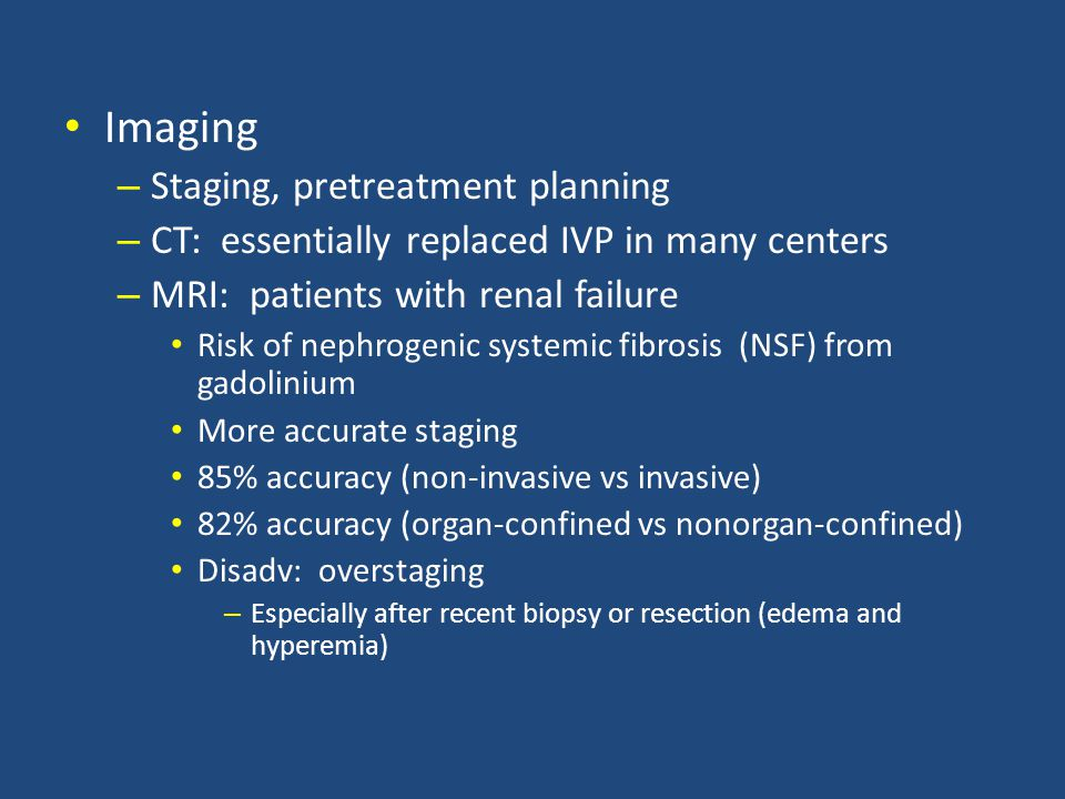 Imaging Staging, pretreatment planning