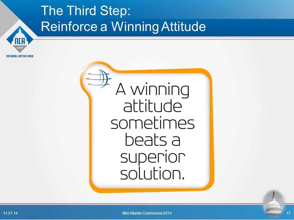 The Third Step: Reinforce a Winning Attitude