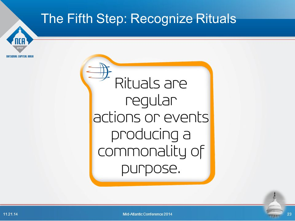 The Fifth Step: Recognize Rituals
