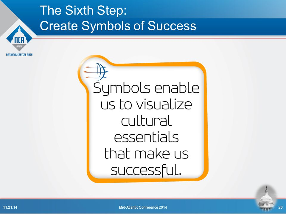 The Sixth Step: Create Symbols of Success