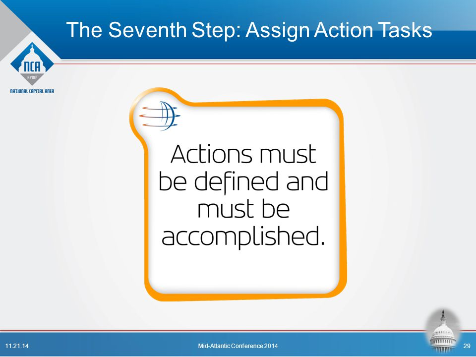 The Seventh Step: Assign Action Tasks