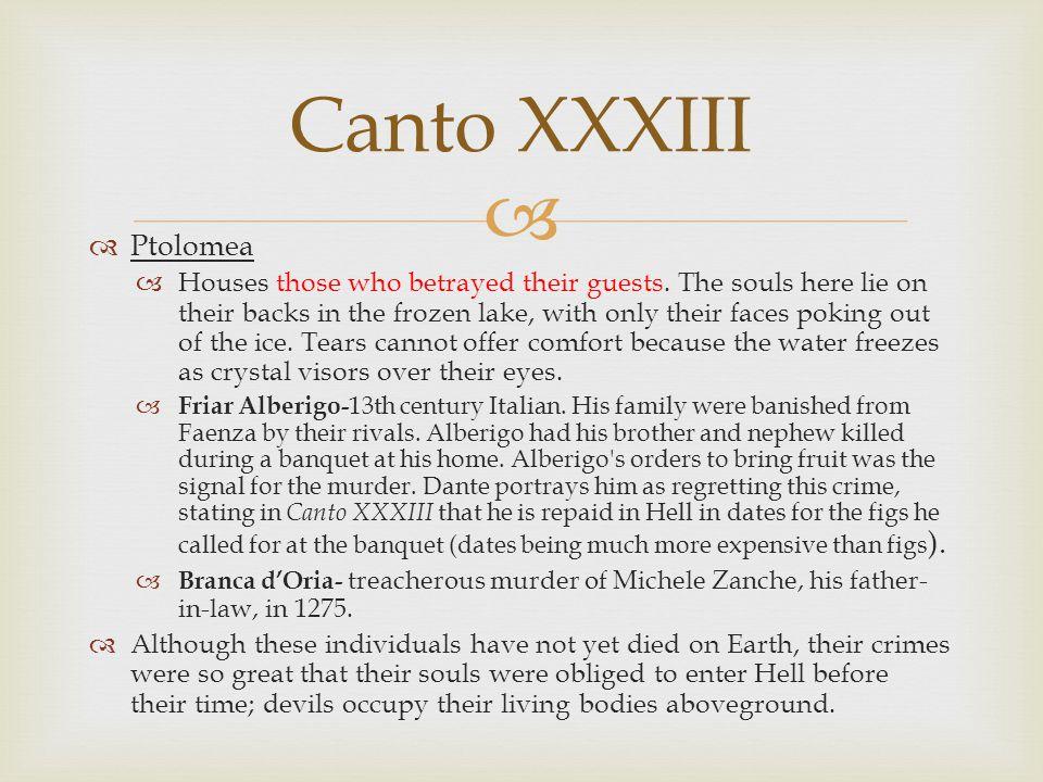 Canto XXXIII Ptolomea.