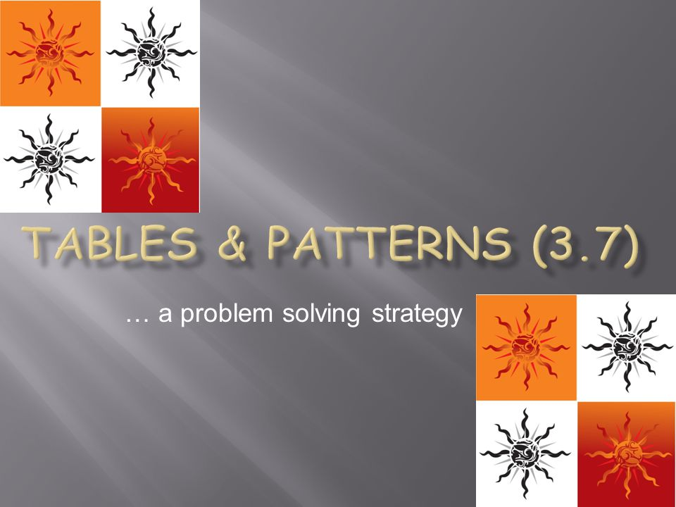 … a problem solving strategy
