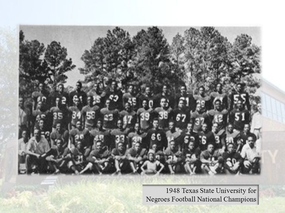 1948 Texas State University for Negroes Football National Champions