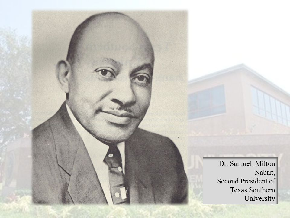 Dr. Samuel Milton Nabrit,