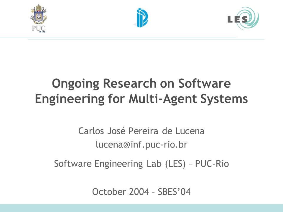 Ongoing Research on Software Engineering for Multi-Agent Systems