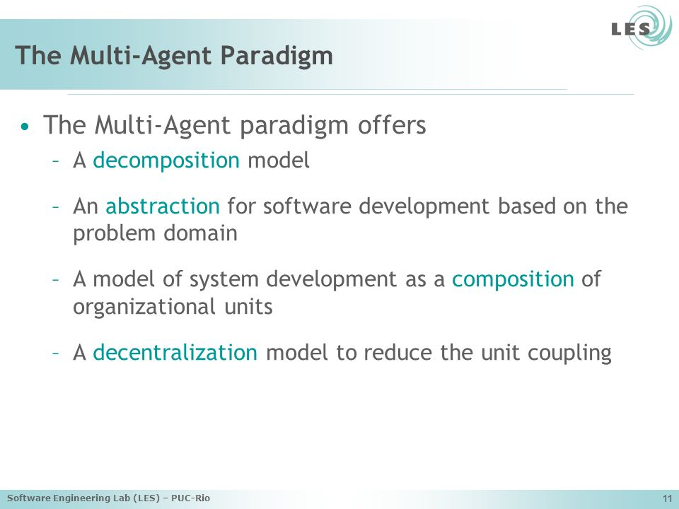 The Multi-Agent Paradigm