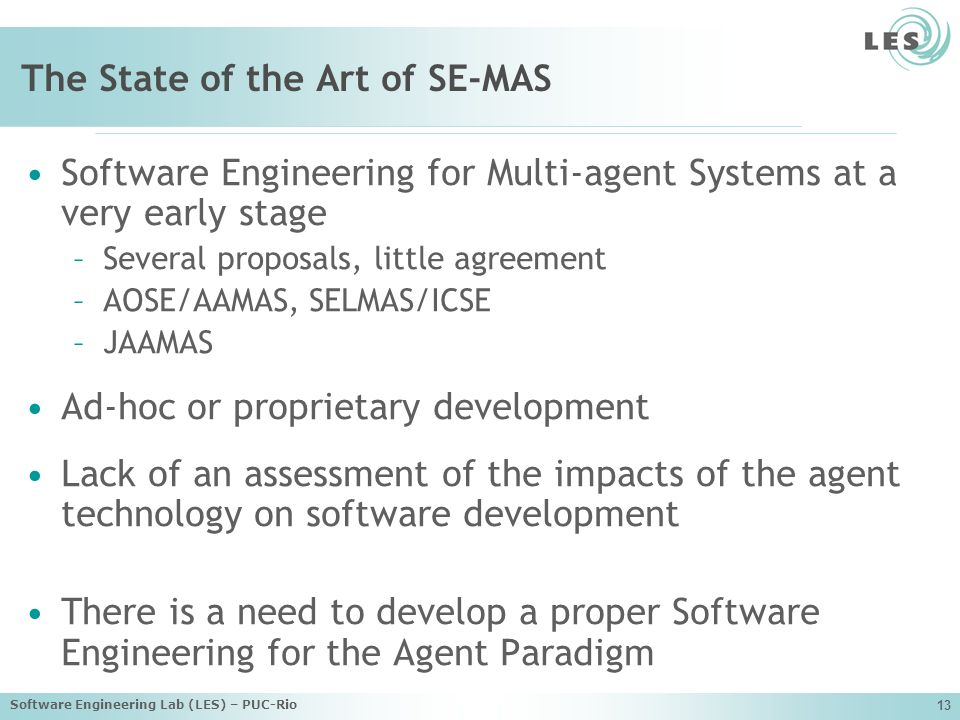 The State of the Art of SE-MAS