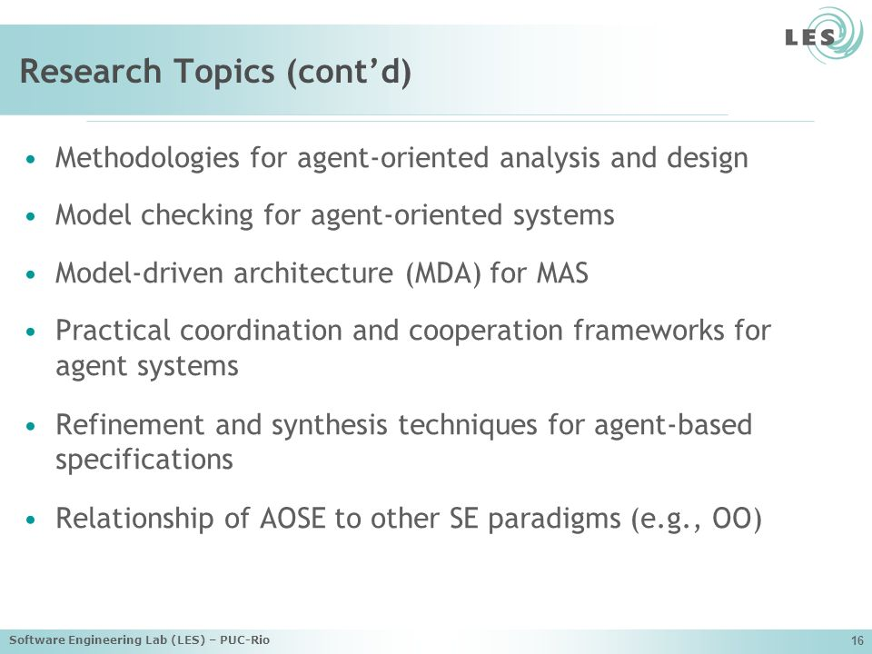 Research Topics (cont'd)