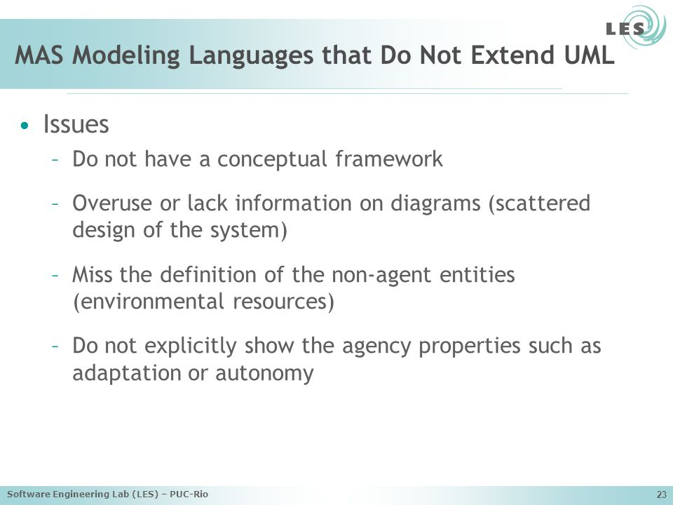 MAS Modeling Languages that Do Not Extend UML