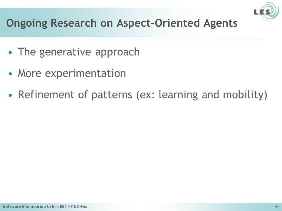 Ongoing Research on Aspect-Oriented Agents