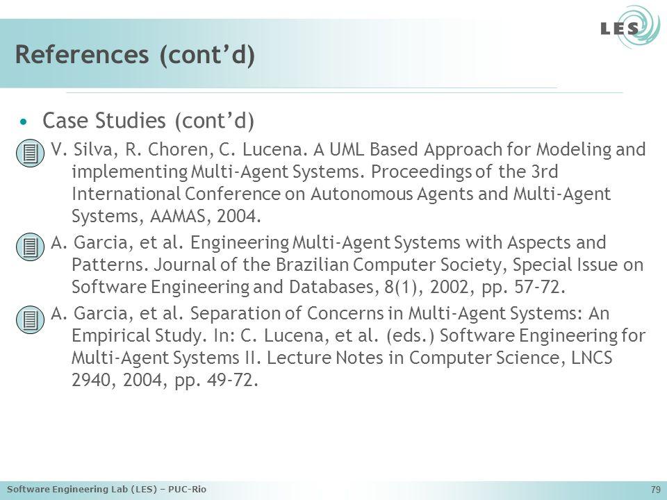 References (cont'd)    Case Studies (cont'd)