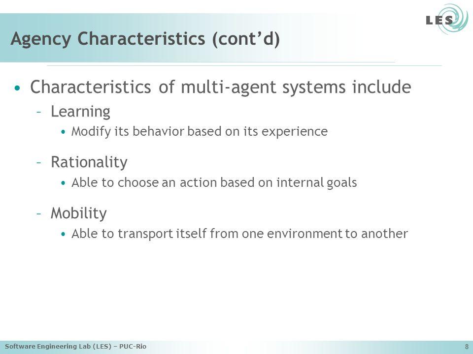 Agency Characteristics (cont'd)
