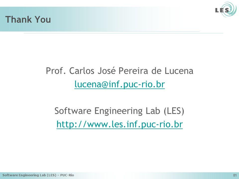 Prof. Carlos José Pereira de Lucena lucena@inf.puc-rio.br