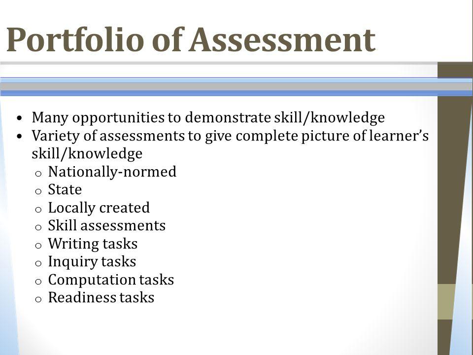 Portfolio of Assessment