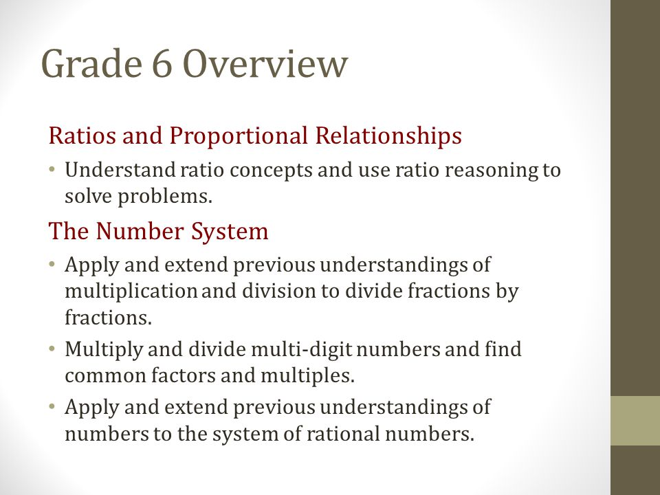 Grade 6 Overview Ratios and Proportional Relationships