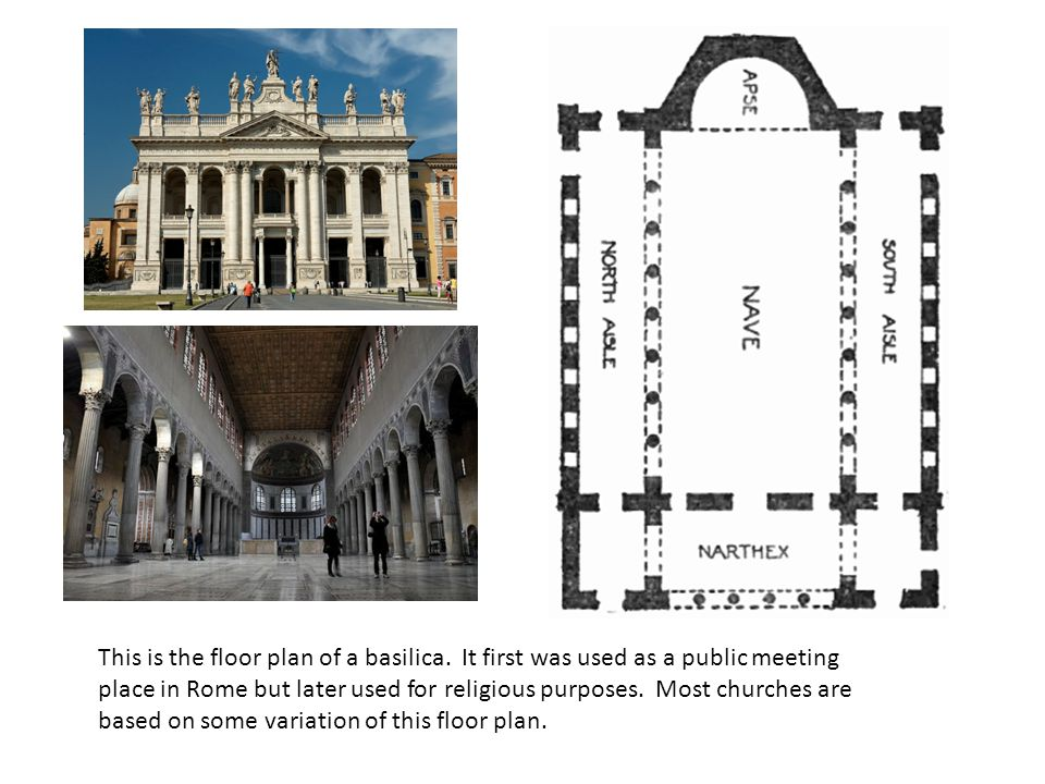 This is the floor plan of a basilica