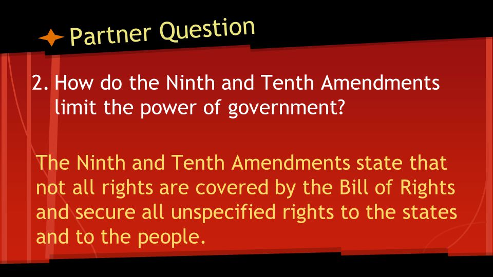 Objective: I can analyze the Bill of Rights & Other Amendments
