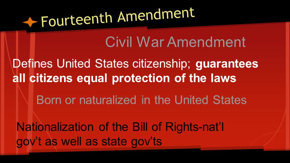 Fifteenth Amendment Civil War Amendment