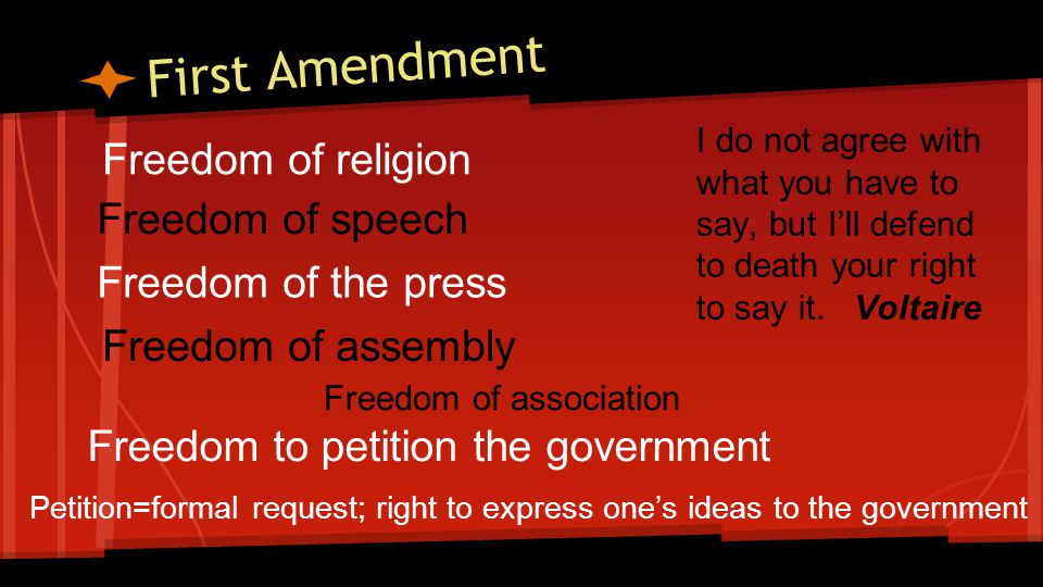 First Amendment Limits