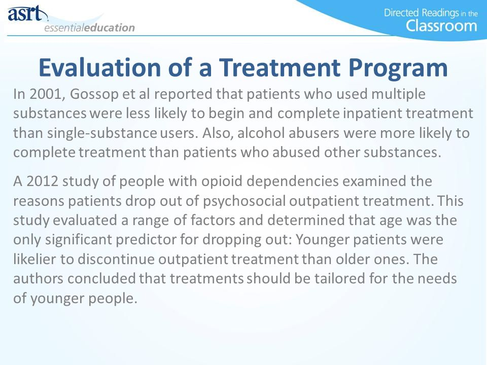 Evaluation of a Treatment Program