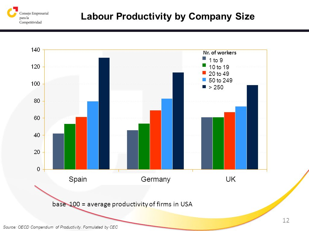 Labour Productivity by Company Size