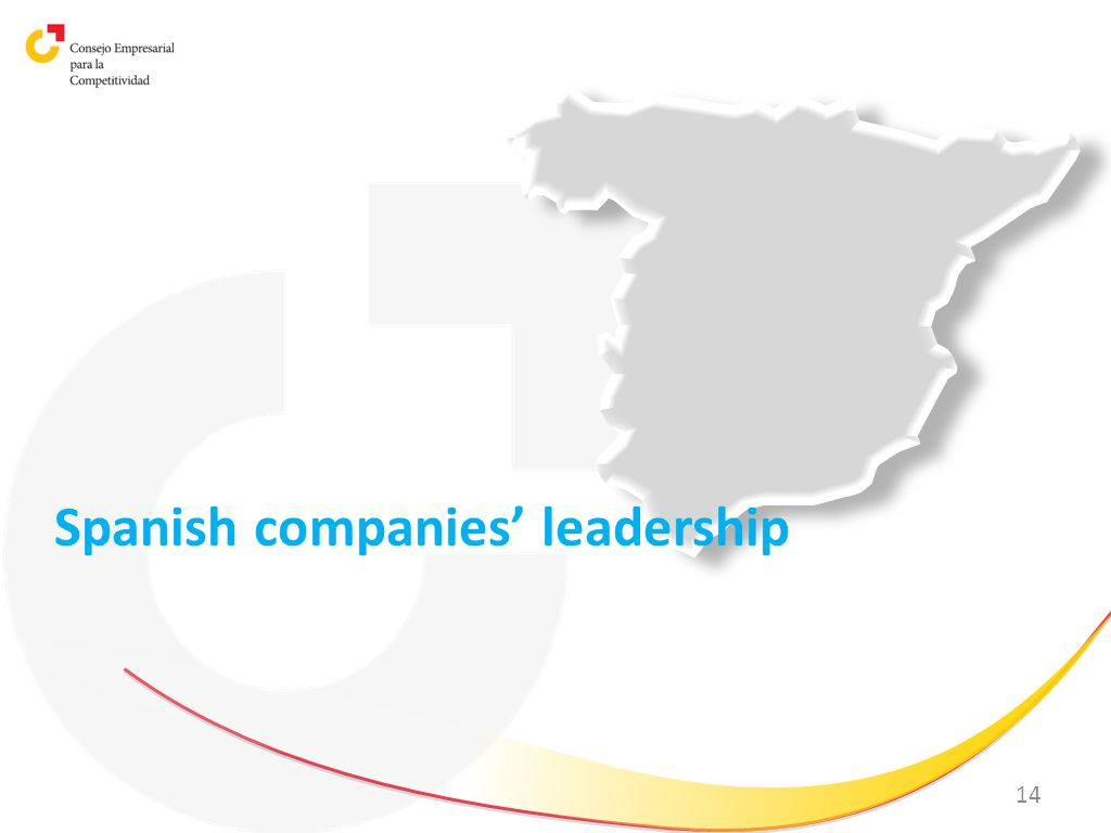 Spanish companies' leadership