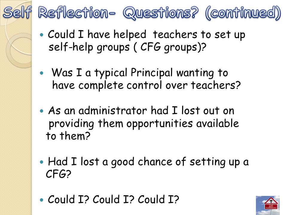 Self Reflection- Questions (continued)