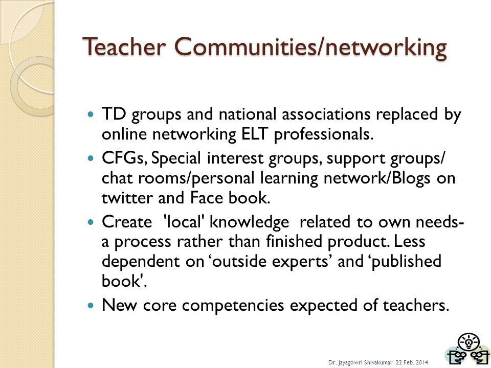 Teacher Communities/networking