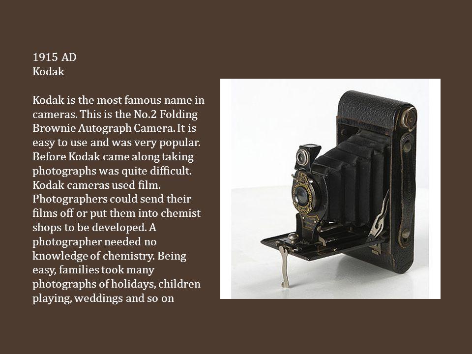 1915 AD Kodak.