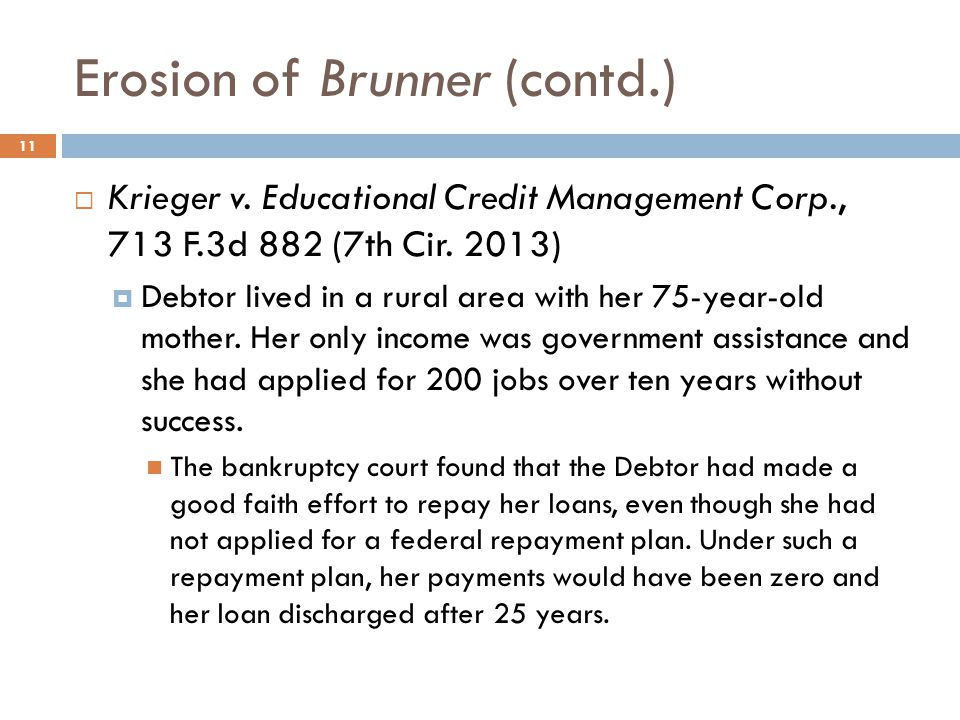 Erosion of Brunner (contd.)