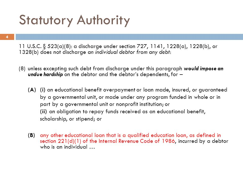 Statutory Authority
