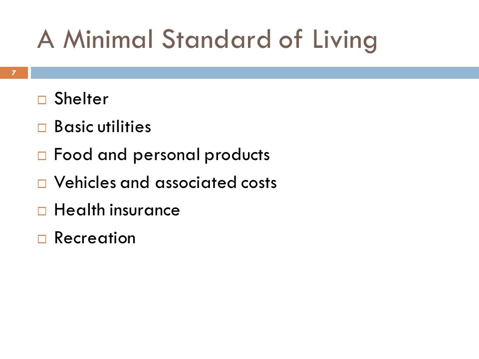 A Minimal Standard of Living