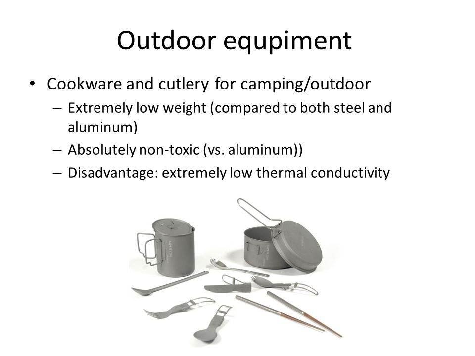 Outdoor equpiment Cookware and cutlery for camping/outdoor