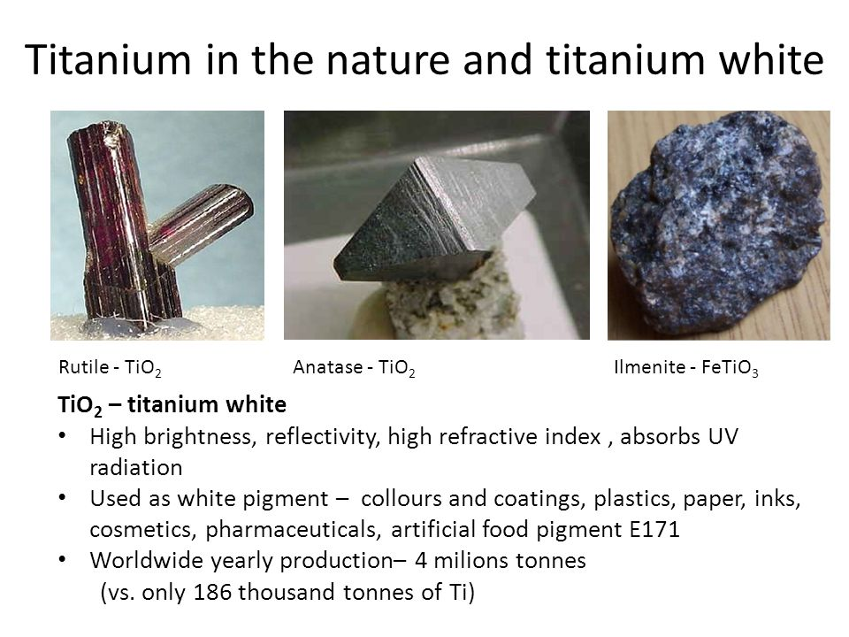 Titanium in the nature and titanium white