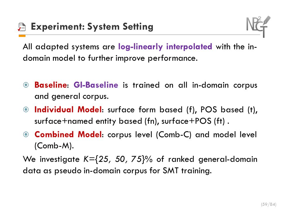 Experiment: System Setting