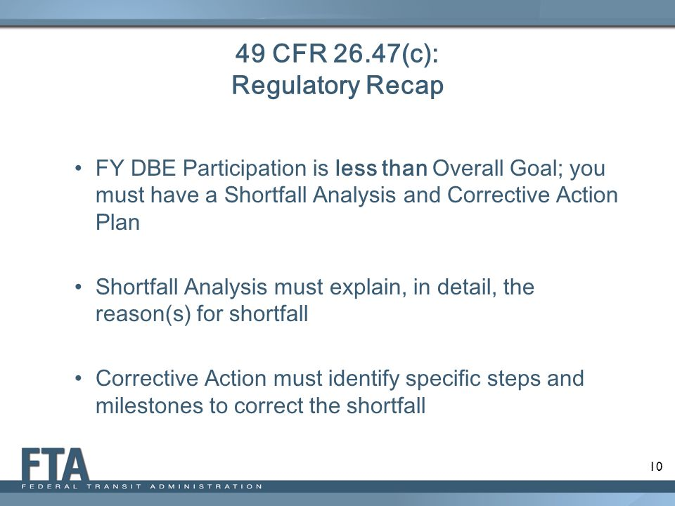 49 CFR 26.47(c): Regulatory Recap