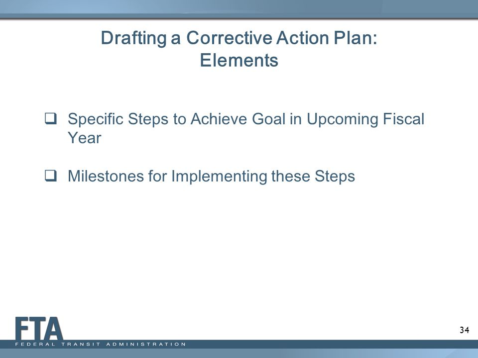 Drafting a Corrective Action Plan: Elements