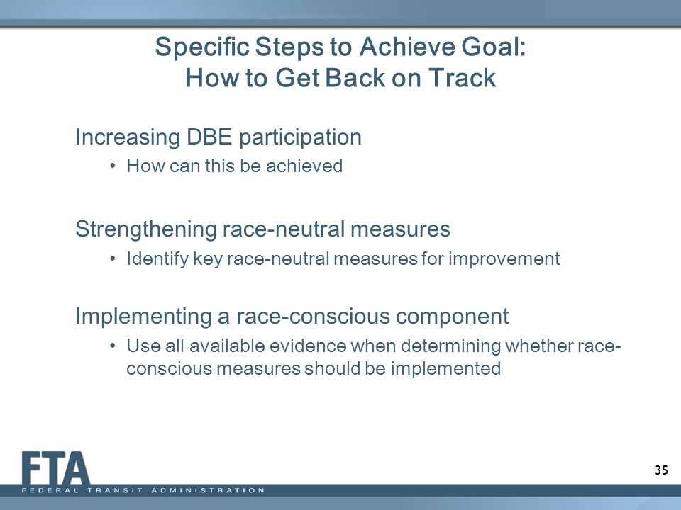 Specific Steps to Achieve Goal: How to Get Back on Track