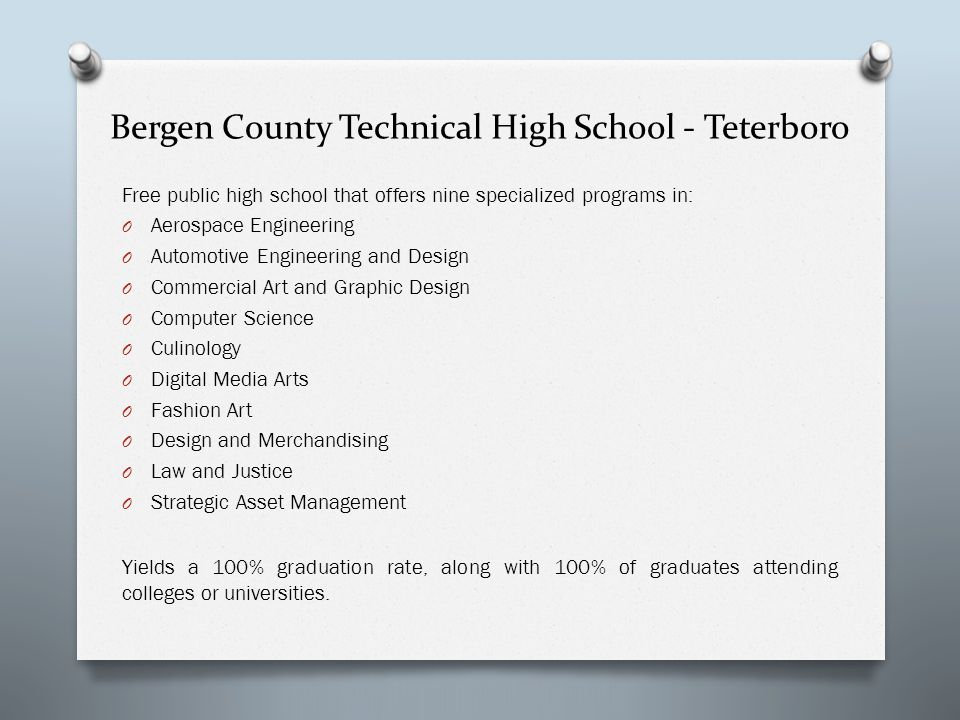 Bergen County Technical High School - Teterboro