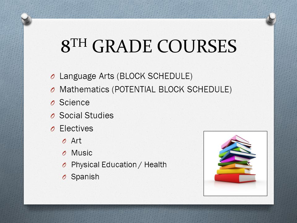 8TH GRADE COURSES Language Arts (BLOCK SCHEDULE)