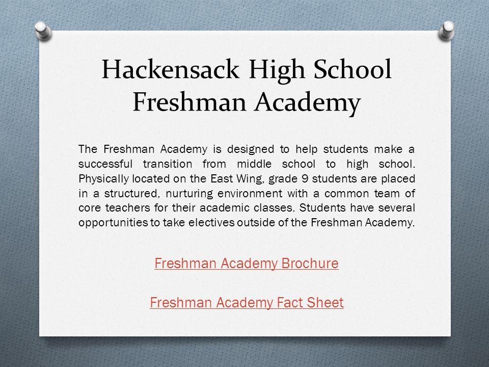 Hackensack High School Freshman Academy