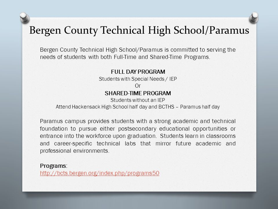 Bergen County Technical High School/Paramus